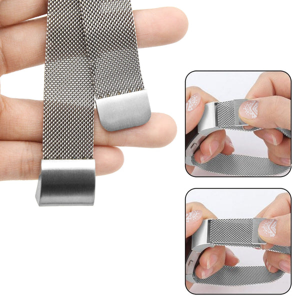 Stainless Steel Strong Magnetism Clasp Replacement Watchband Strap Band for Fitbit Charge 2,Silver