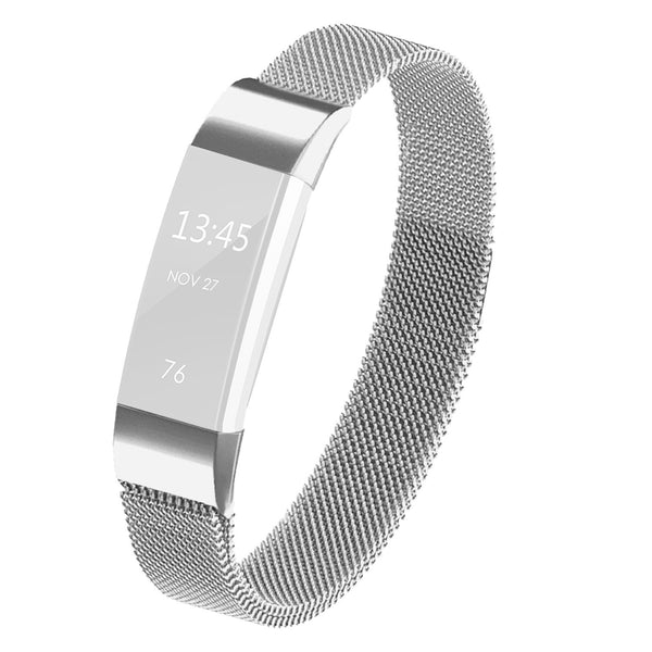 Satkago Stainless Steel Metal Bracelet with Magnet Clasp Replacement Bands for Fitbit Alta,Silver