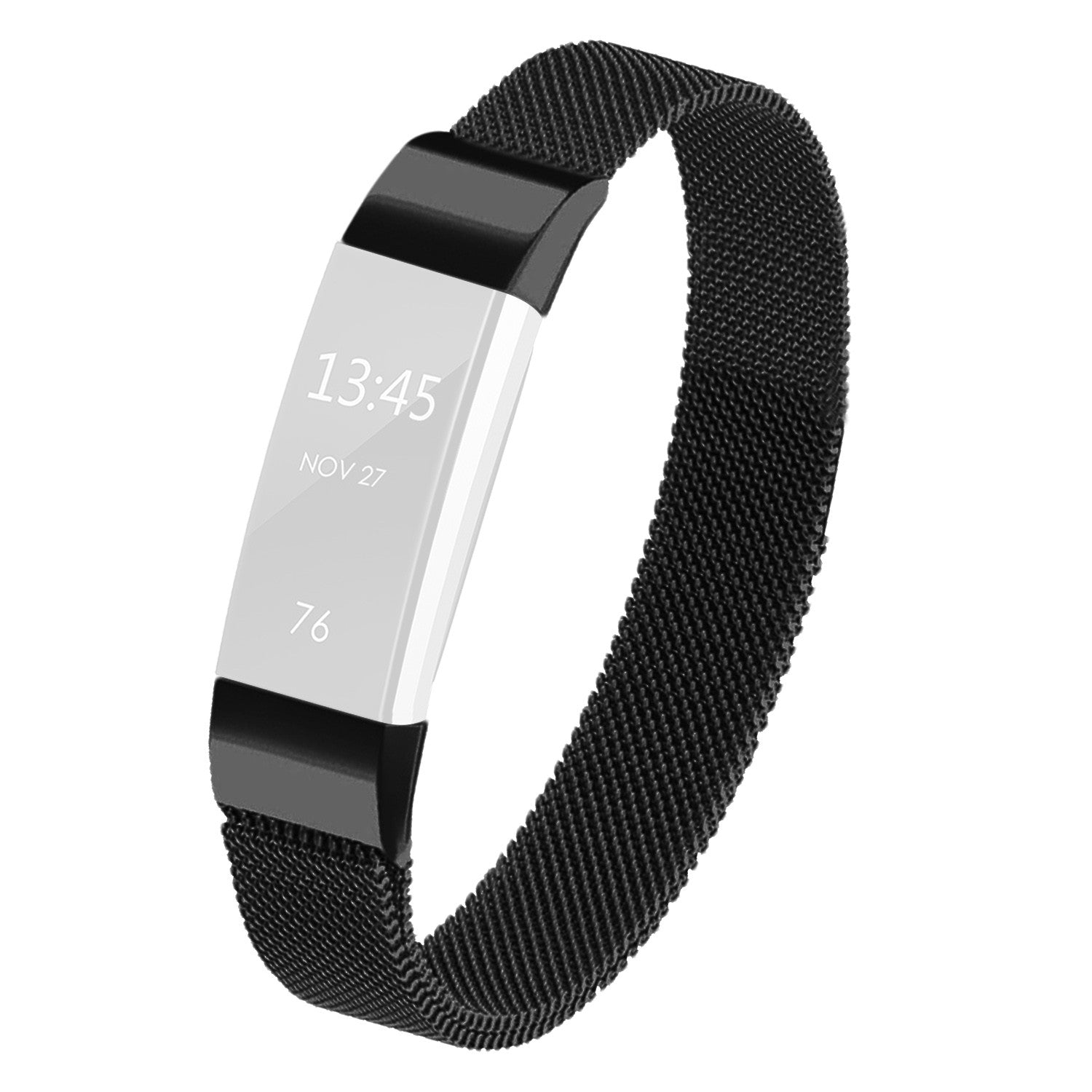 Satkago Stainless Steel Metal Bracelet with Magnet Clasp Replacement Bands for Fitbit Alta,Black