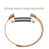 Satkago Stainless Steel Metal Bracelet with Magnet Clasp Replacement Bands for Fitbit Alta,Rose-gold