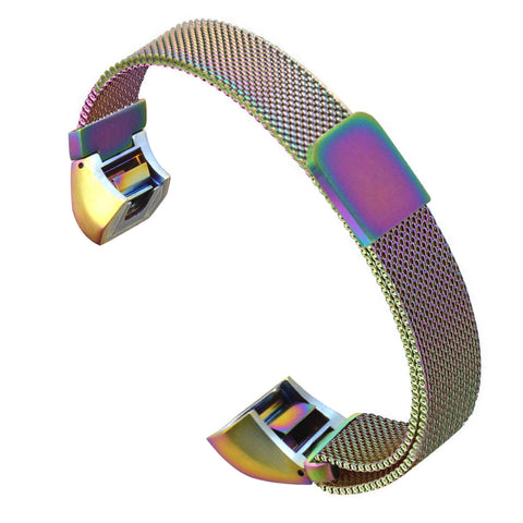 Satkago Strong Magnetism Loop Clasp Replacement Watchband for Fitbit Alta HR and Alta Colorful