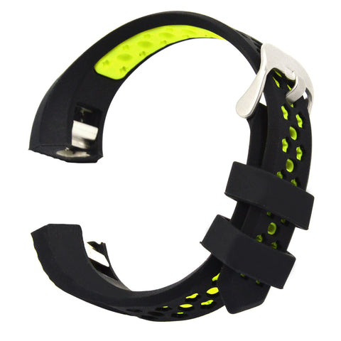 Silicone Replacement Watchband Watch Strap for Fitbit Alta HR and Alta Band Black+Green