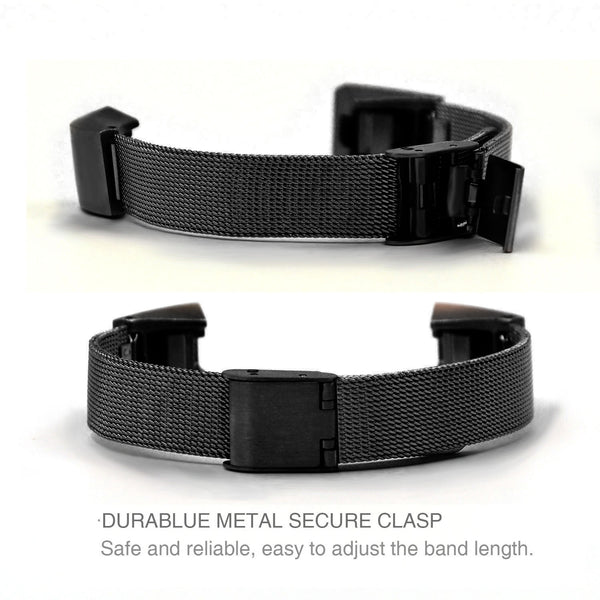 Satkago Stainless Steel Sports Band Replacement Watchband for Fitbit Alta HR / Alta Black