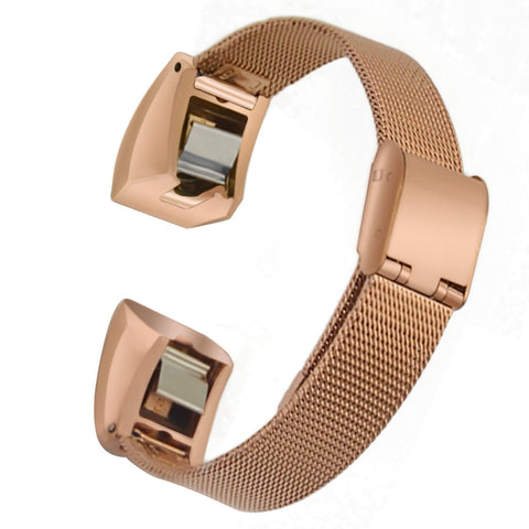 Satkago Stainless Steel Sports Band Replacement Watchband for Fitbit Alta HR / Alta Rose-gold