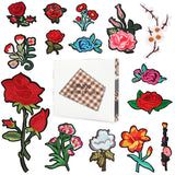 Satkago 15Pcs Exquisite DIY Clothes Patches Stickers Flowers Pattern Embroidered Sew Patches