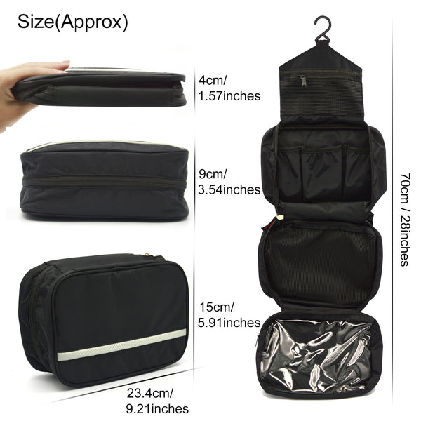 Becoyou Unisex Storage Bag Carrying Case for Travel Toiletry Grooming Cosmetic Makeup Organizer