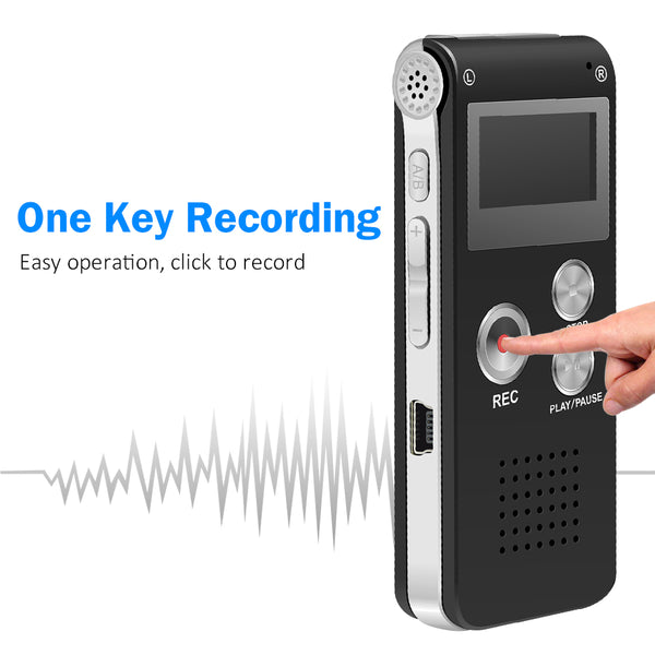 Satkago 8GB Digital Audio Voice Recorder MP3 Music Player with Mini USB Port