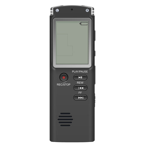Satkago Mini 8GB Digital Audio Voice Recorder MP3 Music Player Dual Microphone Recording