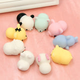 Satkago 20 Pcs Mini Mochi Animals Stress Toys Panda Squishy Kawaii Cat Stress Reliever Anxiety Toys