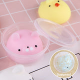 Satkago 10pcs Mini Cute Mochi Squishies Toys Kawaii Soft TPR Squeeze Cartoon Animal Toy
