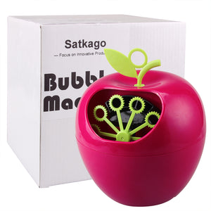 Satkago Apple Shape Automati Bubble Maker Machine for Kids Christmas Parties Wedding Gifts