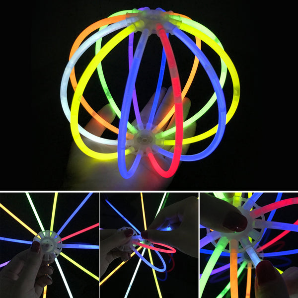 Satkago 228in1 Glowsticks Skull Glasses Frame Headbands Lantern Accessories  DIY Party Favors