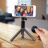 Satkago Tripod Stand Holder Selfie Stick w/ Bluetooth Remote Controller Waterproof Phone Case