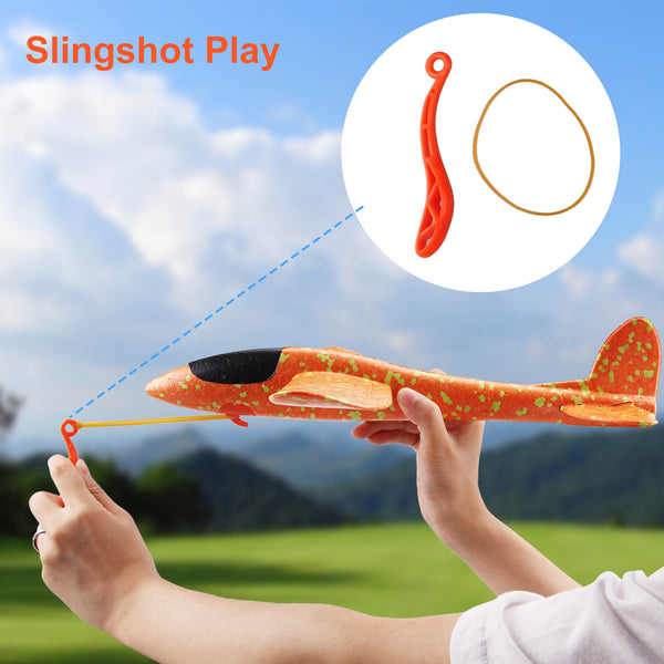 2pcs Satkago 15inch DIY Foam Airplane Toy Plane Aircraft Model for Kids Children Boys Girls