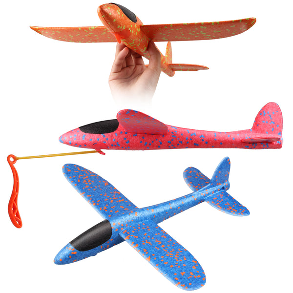 3pcs Satkago 15inch DIY Foam Airplane Toy Plane Aircraft Model for Kids Children Boys Girls