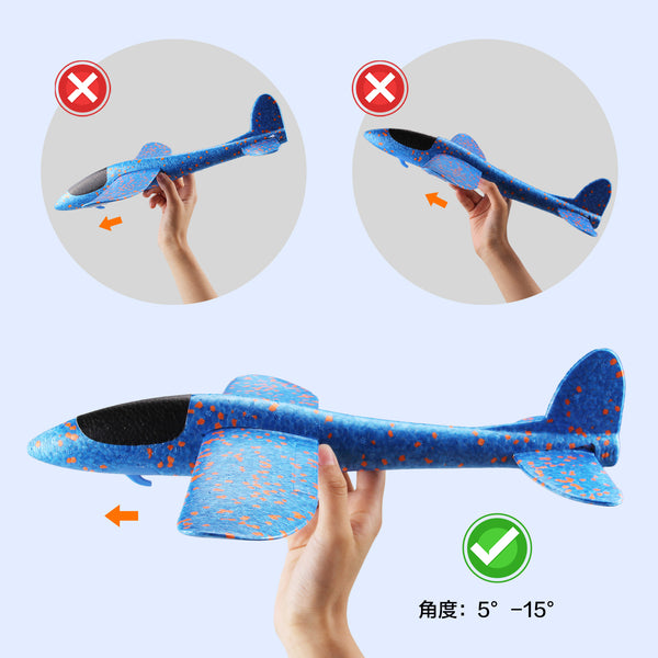 Satkago 3pcs  15inch DIY Foam Airplane Toy Plane Model for Kids Children Boys Girls