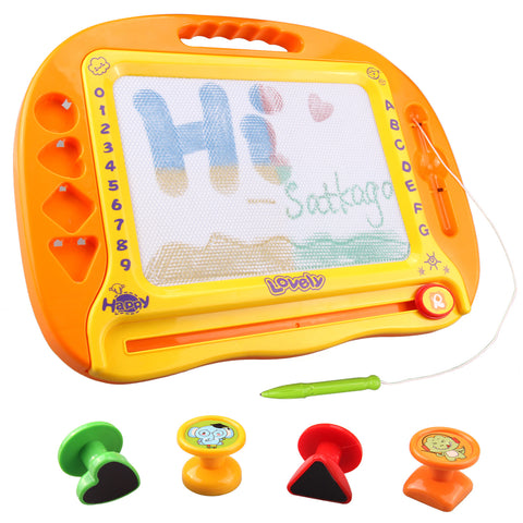 Satkago Kids Magnetic Doodle Drawing Board Colorful Sketch Erasable Tablet 4 Magnet Children Gift