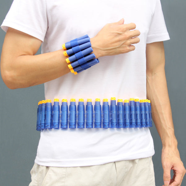 Satkago Soft Bullets Shoulder Belt w/ Hand Strap Wristbands Refill Darts for Nerf N-strike