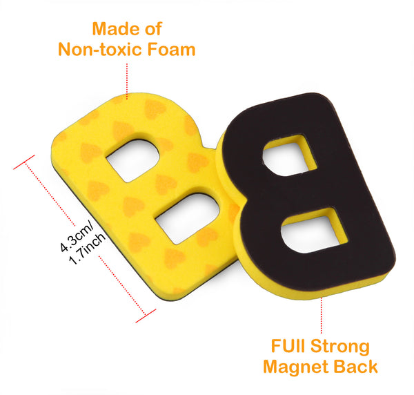 Satkago 208pcs Magnetic Foam Alphabet Letters with 2pcs Magnet Board
