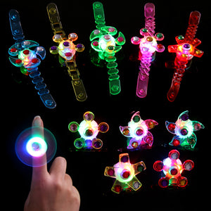 Satkago 16Pack Fidget Light up Bracelet Toys Wristband Ring with Spinning Top Fidget