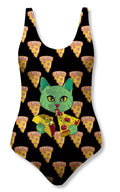Traje de Baño Fishikii Pizza Cat | BAM.59