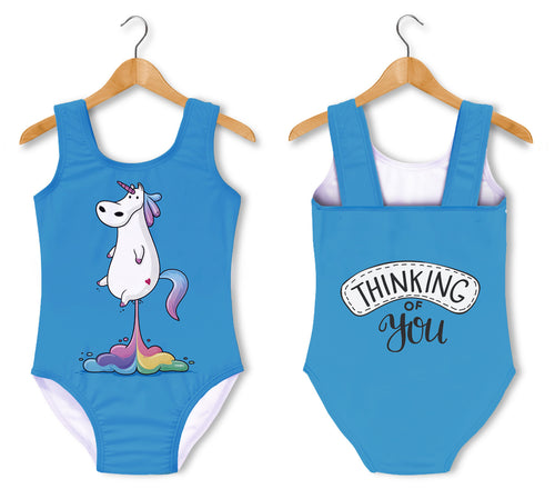 Bañador Fishikii Unicornio Thinking of You para niñas | BAN.14