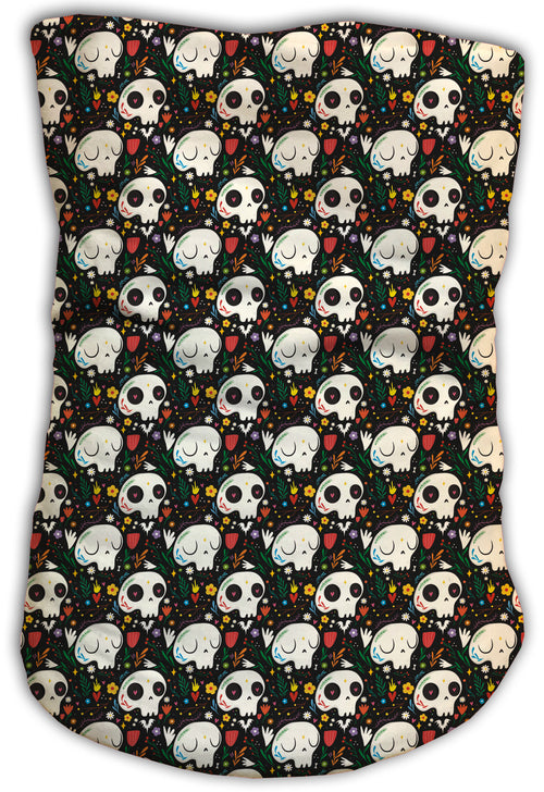 Cuello Buff Fishikii Flowered Skulls Unisex | BUFF.18