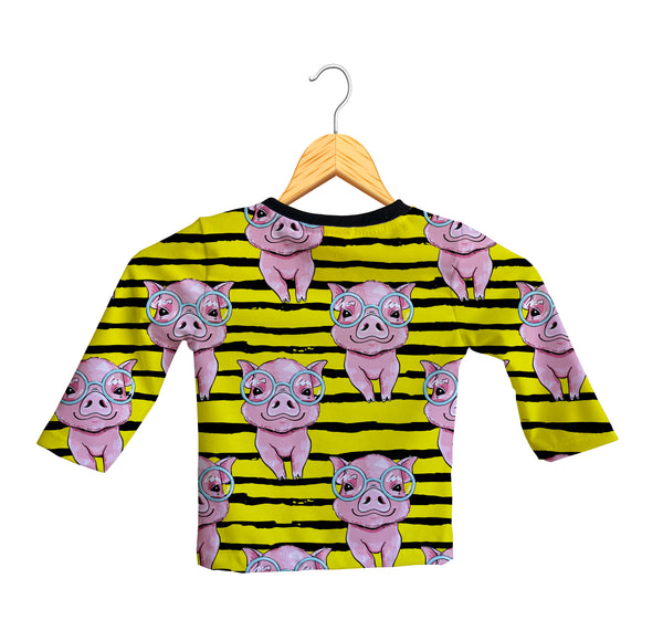 Camiseta Manga Larga Bebé Fishikii Pig | CAM-LARGA-BB.14