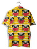 Camiseta Polo Fishikii Summer Pug | CAM-POL.04