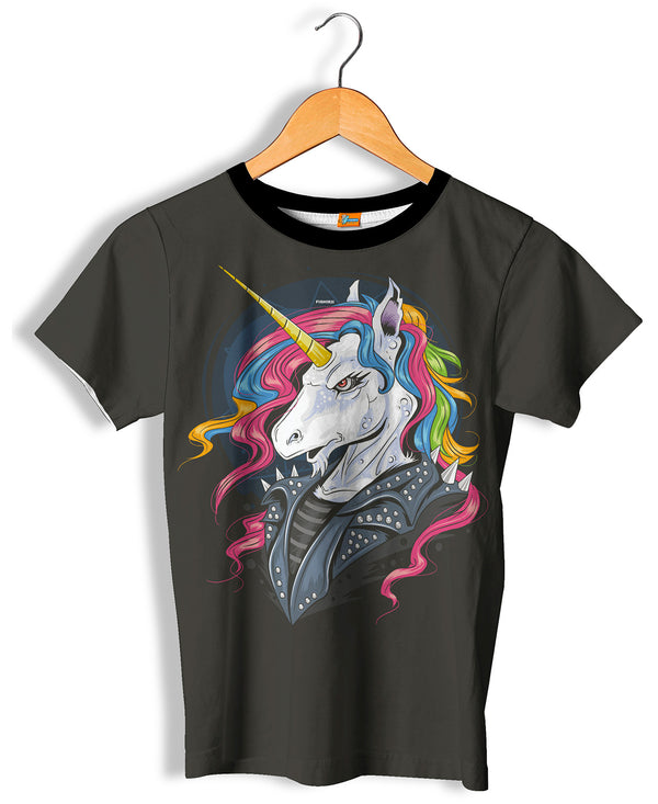 Camiseta Fishikii Unisex Rocker Unicorn  | CAM.293