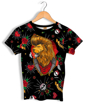 Camiseta Fishikii León Old School Unisex | CAM.313
