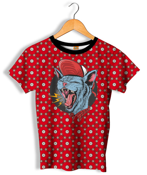 Camiseta Fishikii Crazy cat Unisex | CAM.385