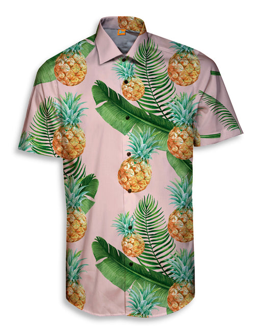 Camisa Manga Corta Hombre Pineapples and Feathers | CAMISA_MCORTAH.72
