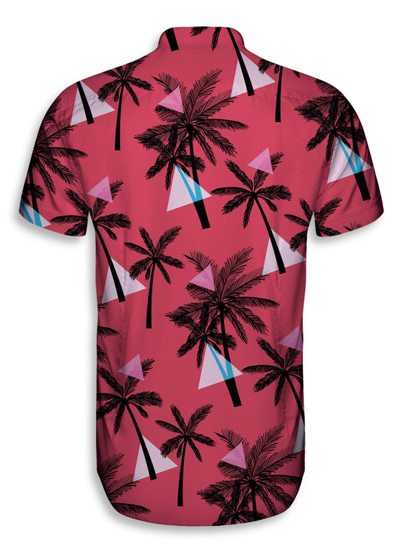 Camisa Manga Corta Hombre Palm Trees and Triangles | CAMISA_MCORTAH.73
