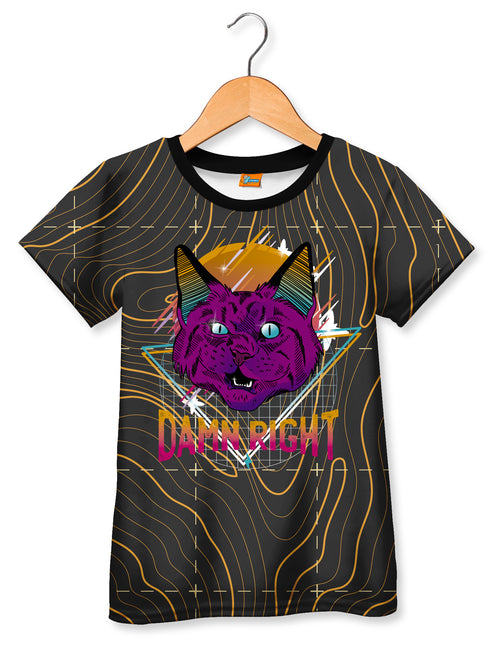 Camiseta Fishikii Cat Damn Right para niños | CAMN.92