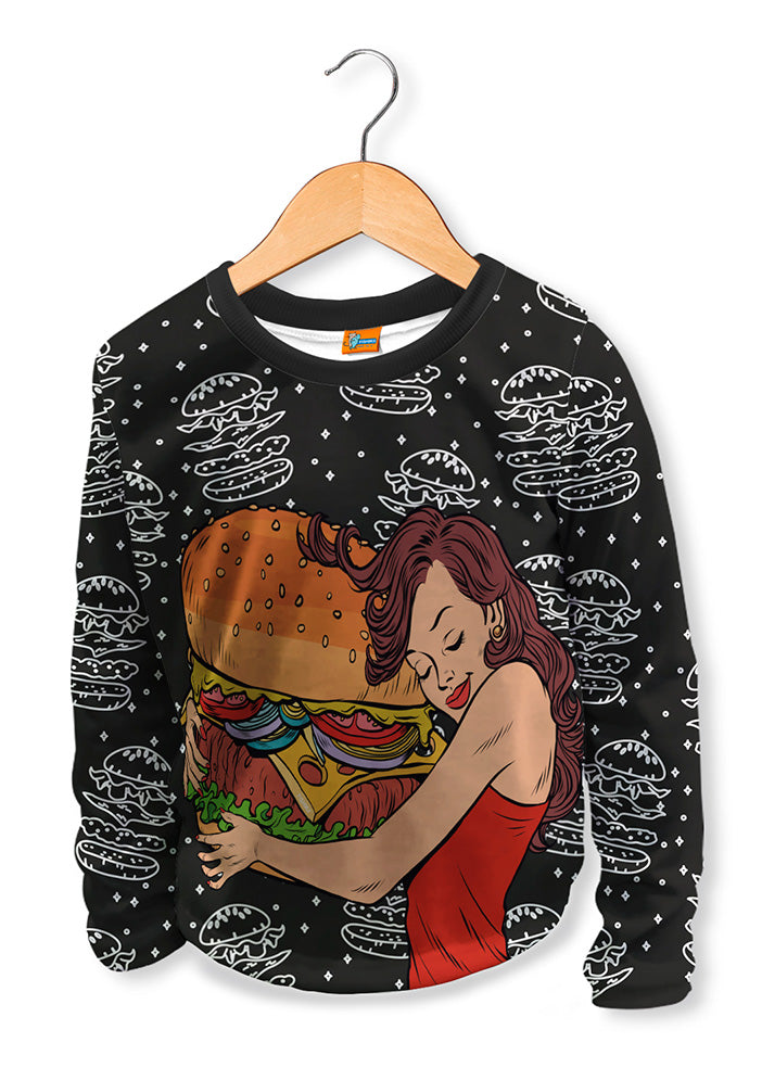 Camiseta Manga Larga Fishikii Infantil Love Hamburguer | CAMN-LARGA.04