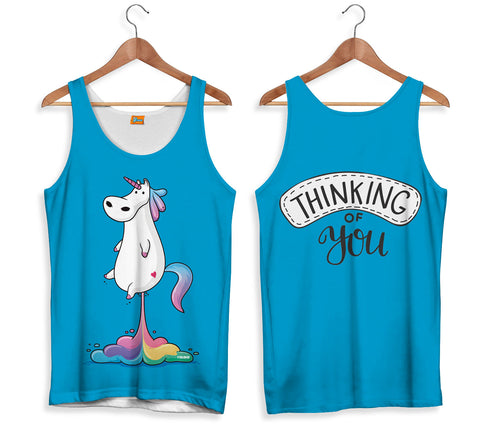 Camiseta de Tirantes Unicornio Thinking of You | CAMTM.155