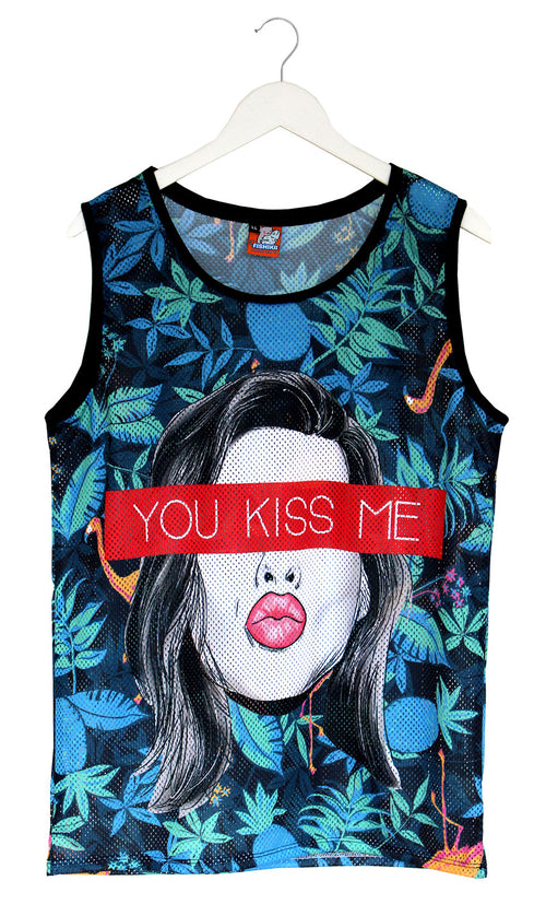 Camiseta de Tirantes Perforada You Kiss Me | CAMT_PERFO.07