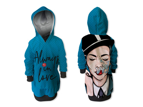 Vestido Sudadera Pin up Smoke infantil | CAN-VESTN.04
