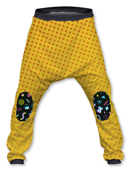 Pantalón Crazy Baggy Unisex Fishikii Yellow and Polka Dots | OUTLET- PANT-CRAZY.02