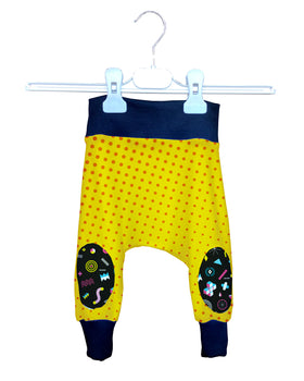 Pantalón Crazy Baggy Bebé Fishikii Yellow and Polka Dots | BAGGY-BB.02