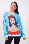 Sudadera Fishikii Unisex Pin Up Rosas | SUD.71