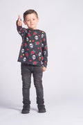 Camiseta Manga Larga Fishikii Infantil Let it Rock | CAMN-LARGA.11