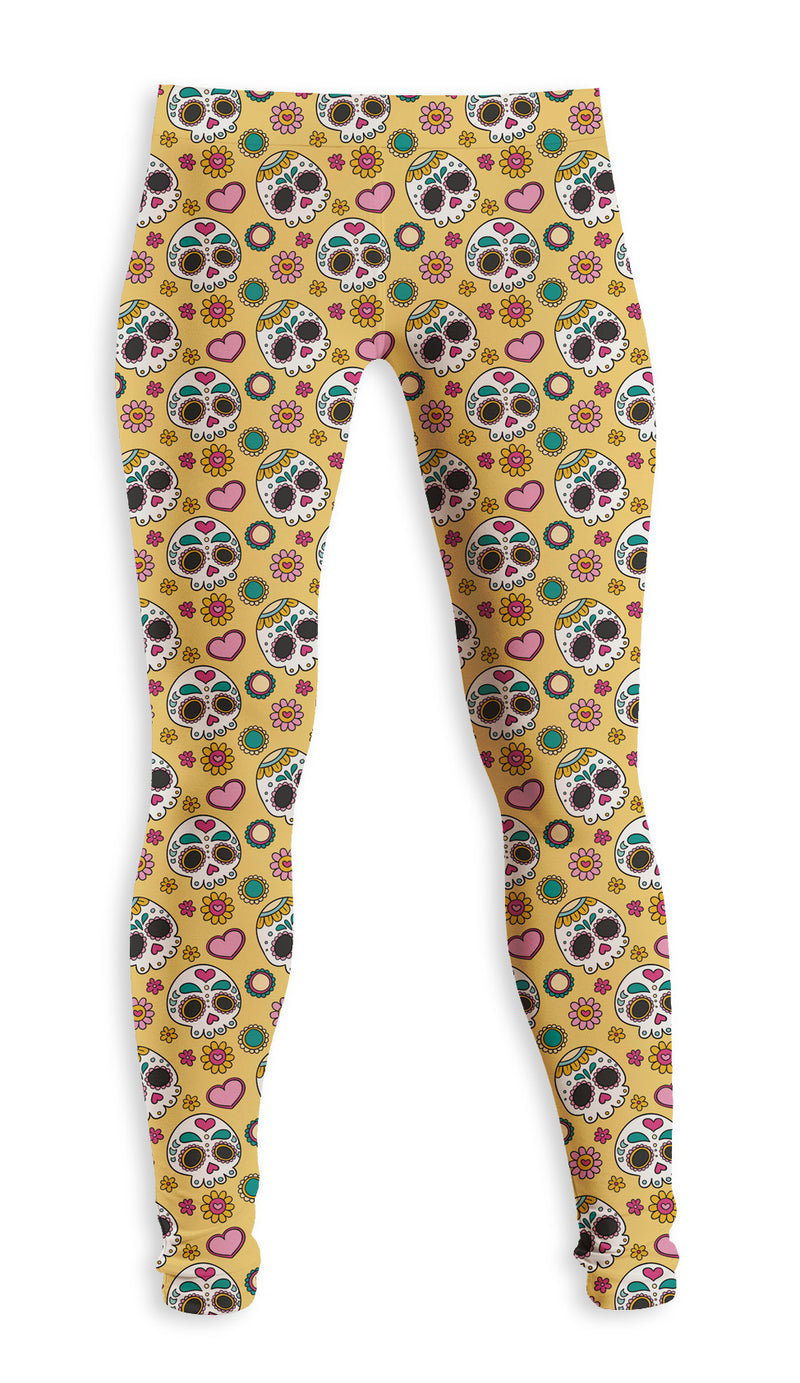 Legging Fishikii Yellow Calaveras | LEG.94