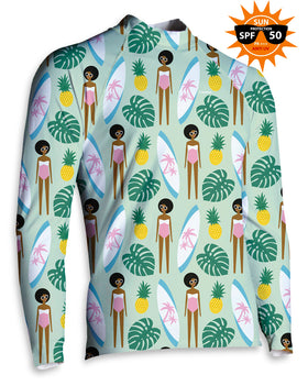 LYCRA BAÑO Unisex Tropical Girl Surfer | LYCRA-SURF.05