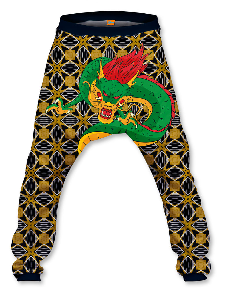 Pantalón Baggy Unisex Fishikii Gold dragon | PANH-BAG.73