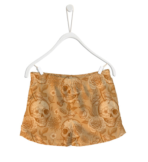 Short de Baño Fishikii Gold Skull | SHORT-H.07