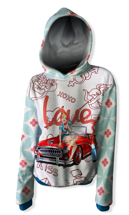 Sudadera con Capucha Fishikii Pin Up Love | SUD-CAP.17