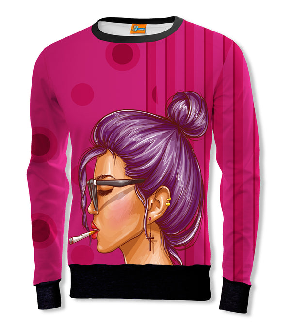 Sudadera Fishikii SMOKING GIRL Unisex | SUD.297