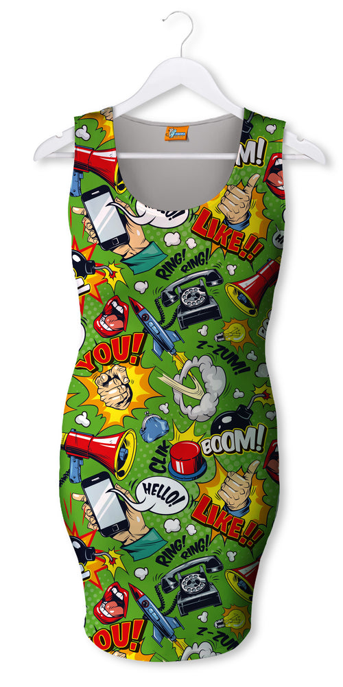 Vestido Neo Fishikii Comic Pop Art | VEST-NOCH.54